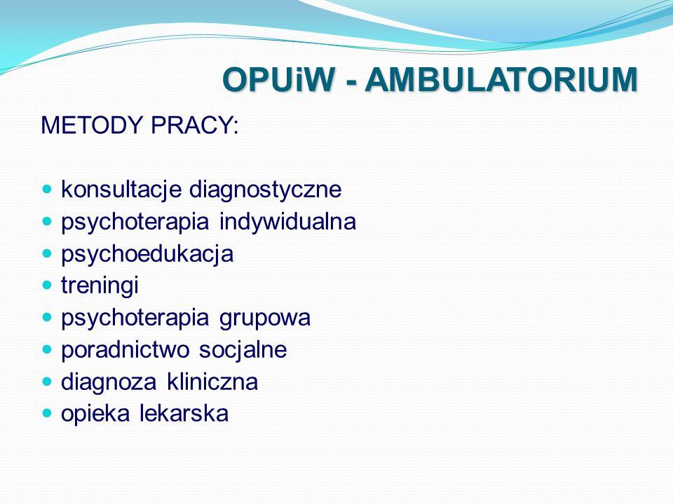 OPUiW - AMBULATORIUM METODY PRACY: konsultacje diagnostyczne