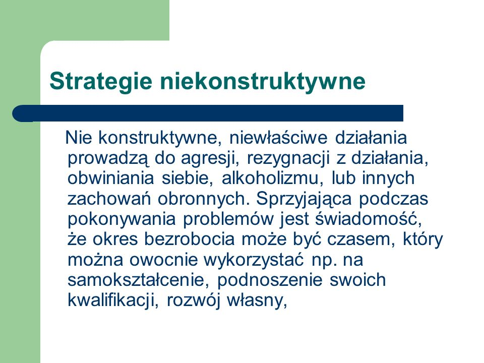 Strategie niekonstruktywne