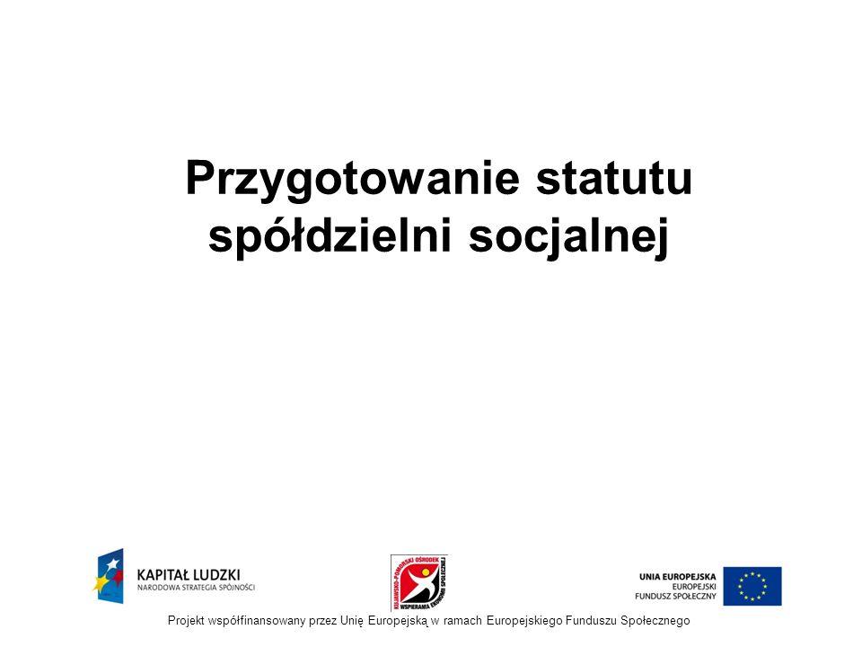Przygotowanie statutu spółdzielni socjalnej