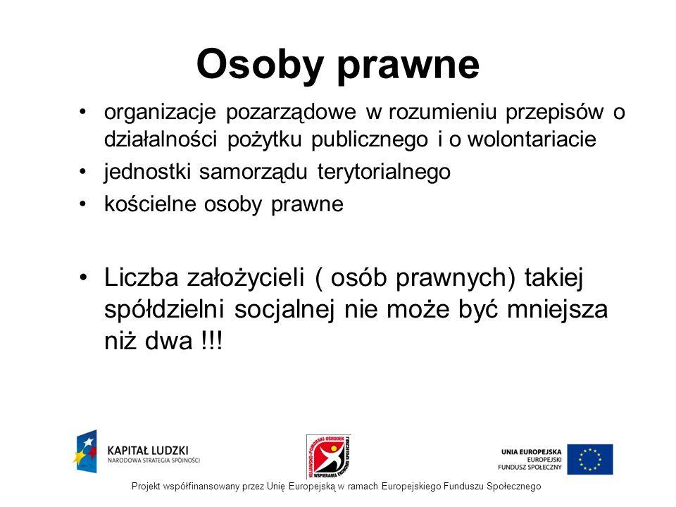 Osoby prawne organizacje pozarządowe w rozumieniu przepisów o działalności pożytku publicznego i o wolontariacie.