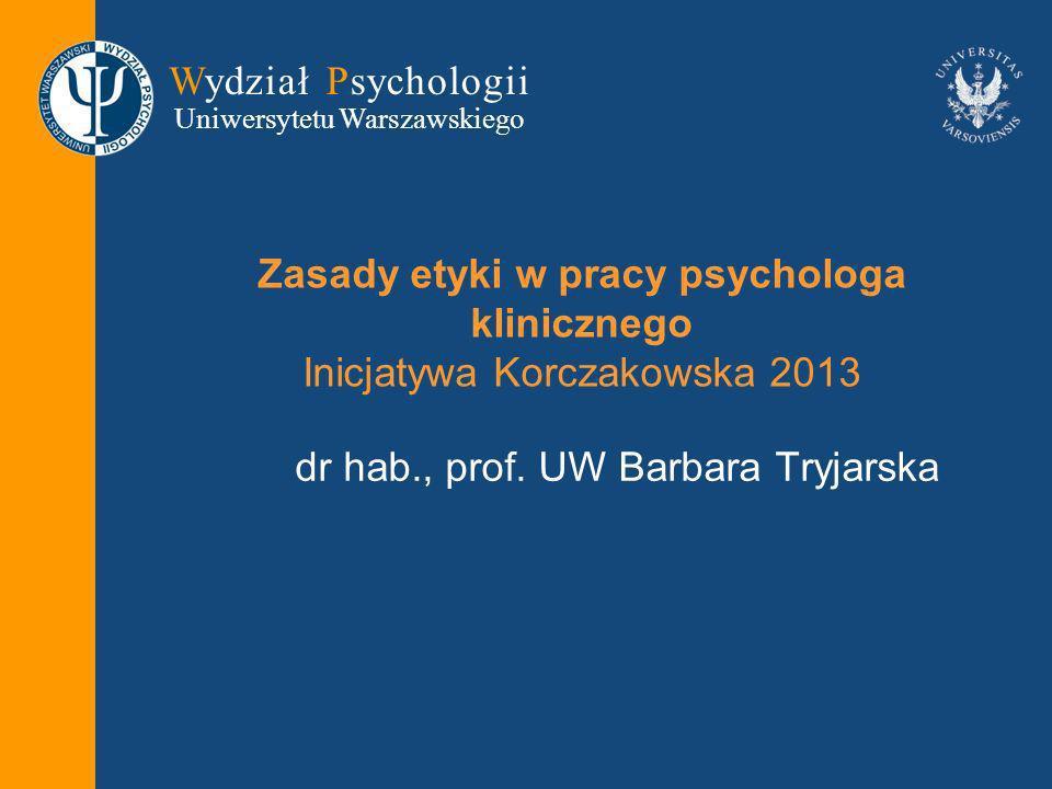 dr hab., prof. UW Barbara Tryjarska