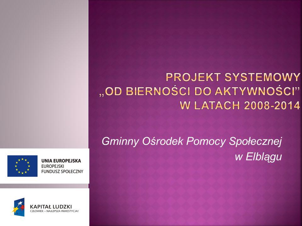 """PROJEKT systemowy """"OD BIERNOŚCI DO AKTYWNOŚCI w latach 2008-2014"""