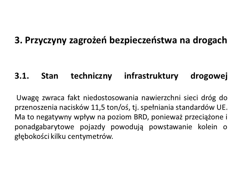 3. Przyczyny zagrożeń bezpieczeństwa na drogach …. 3. 1