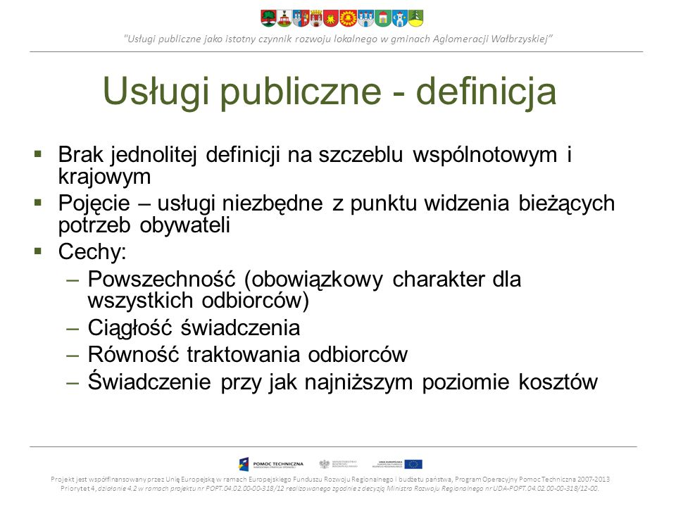 Usługi publiczne - definicja