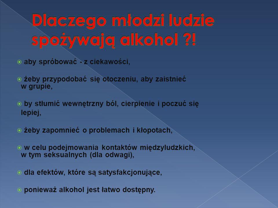 Dlaczego młodzi ludzie spożywają alkohol !