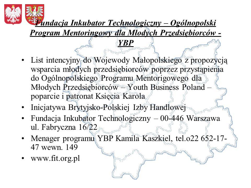 Fundacja Inkubator Technologiczny – Ogólnopolski Program Mentoringowy dla Młodych Przedsiębiorców - YBP