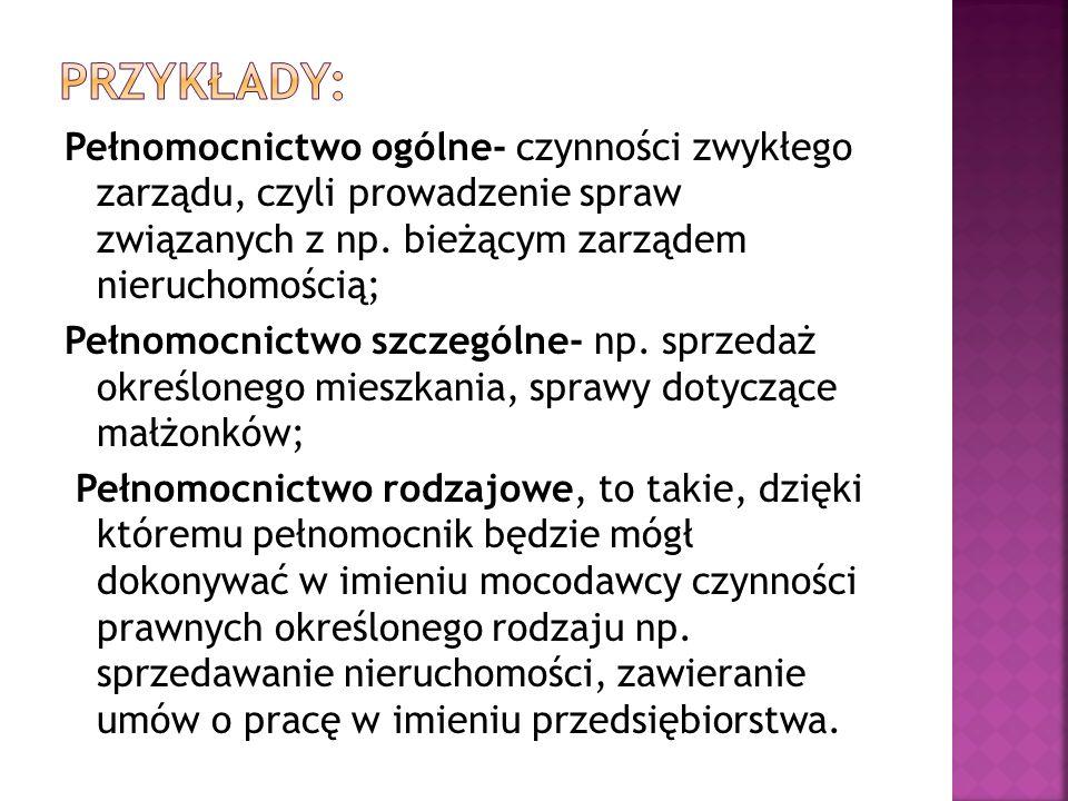 Przykłady: