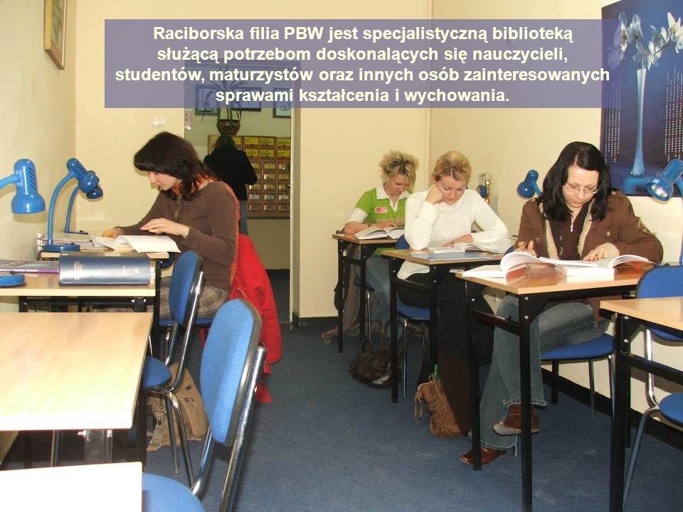 Raciborska filia PBW jest specjalistyczną biblioteką