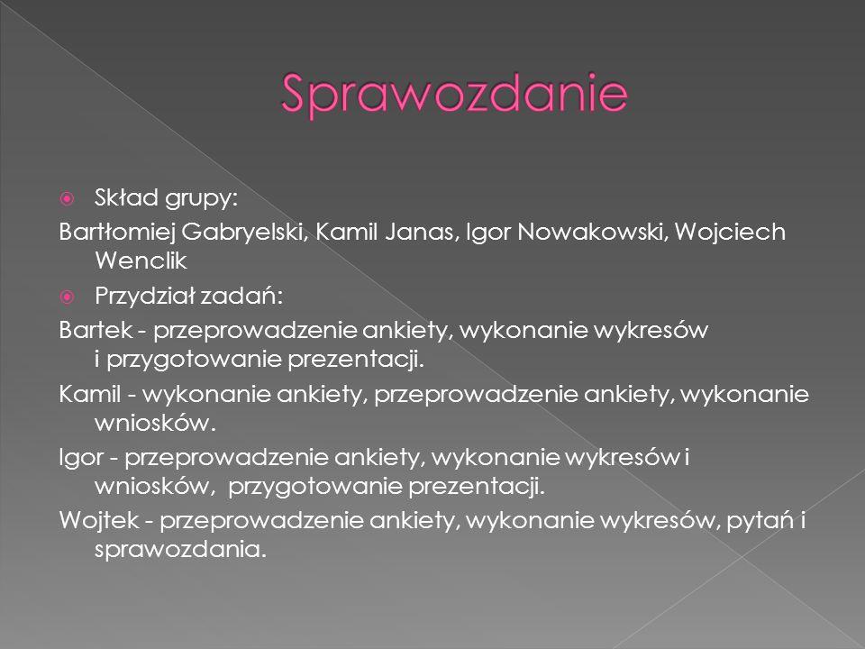 Sprawozdanie Skład grupy: