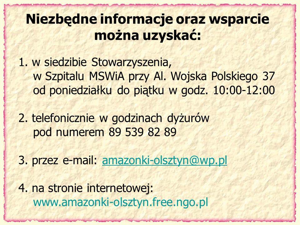 Niezbędne informacje oraz wsparcie można uzyskać: