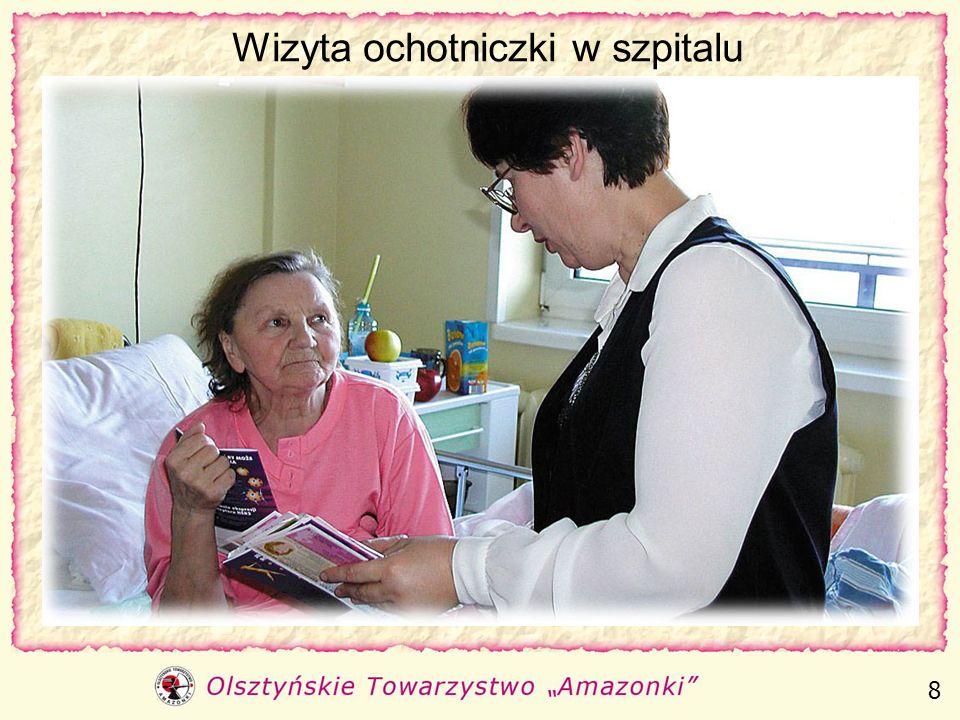 Wizyta ochotniczki w szpitalu