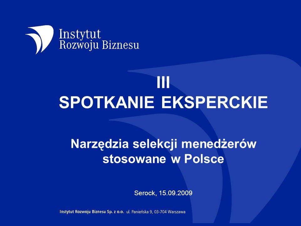 III SPOTKANIE EKSPERCKIE