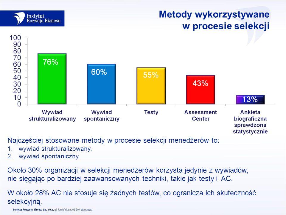 Metody wykorzystywane w procesie selekcji