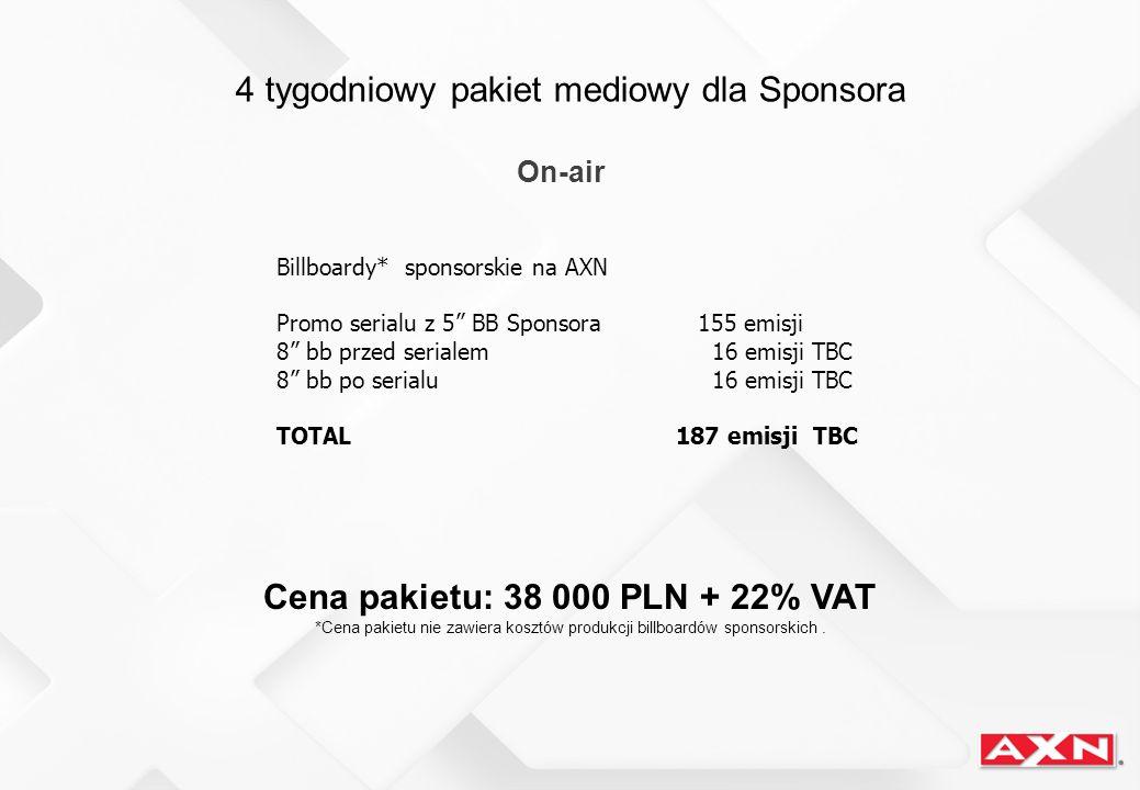 Cena pakietu: 38 000 PLN + 22% VAT