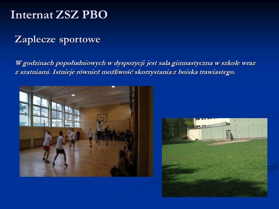 Internat ZSZ PBO Zaplecze sportowe