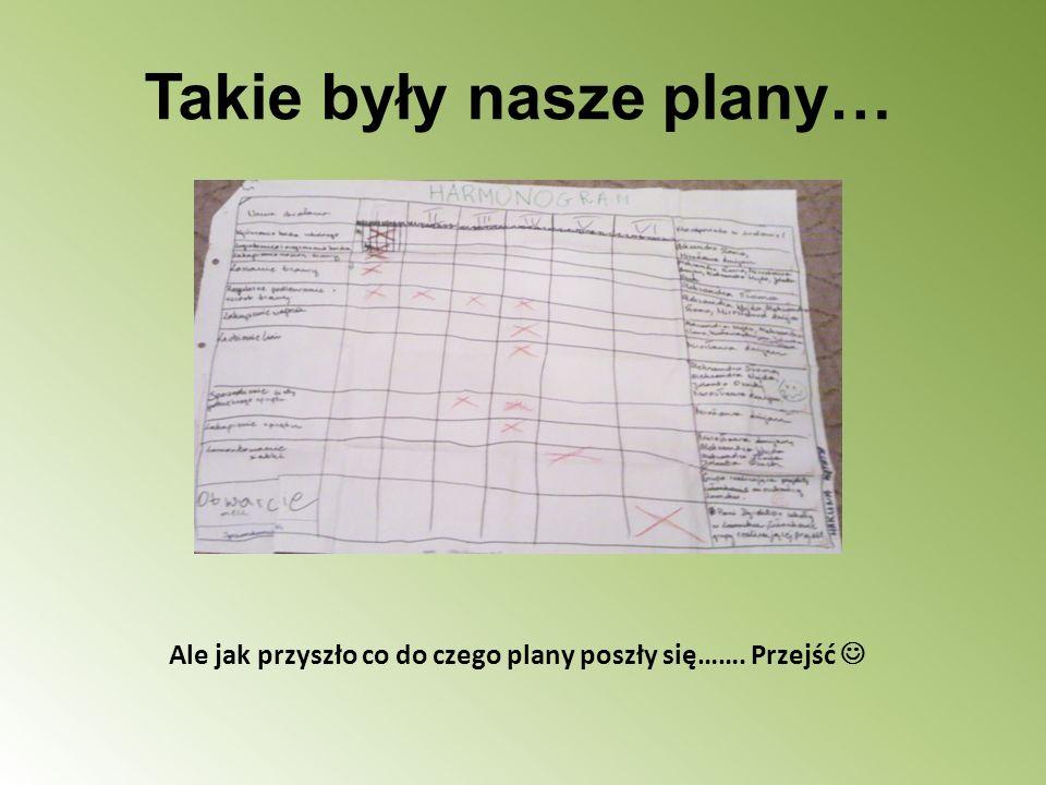 Takie były nasze plany…