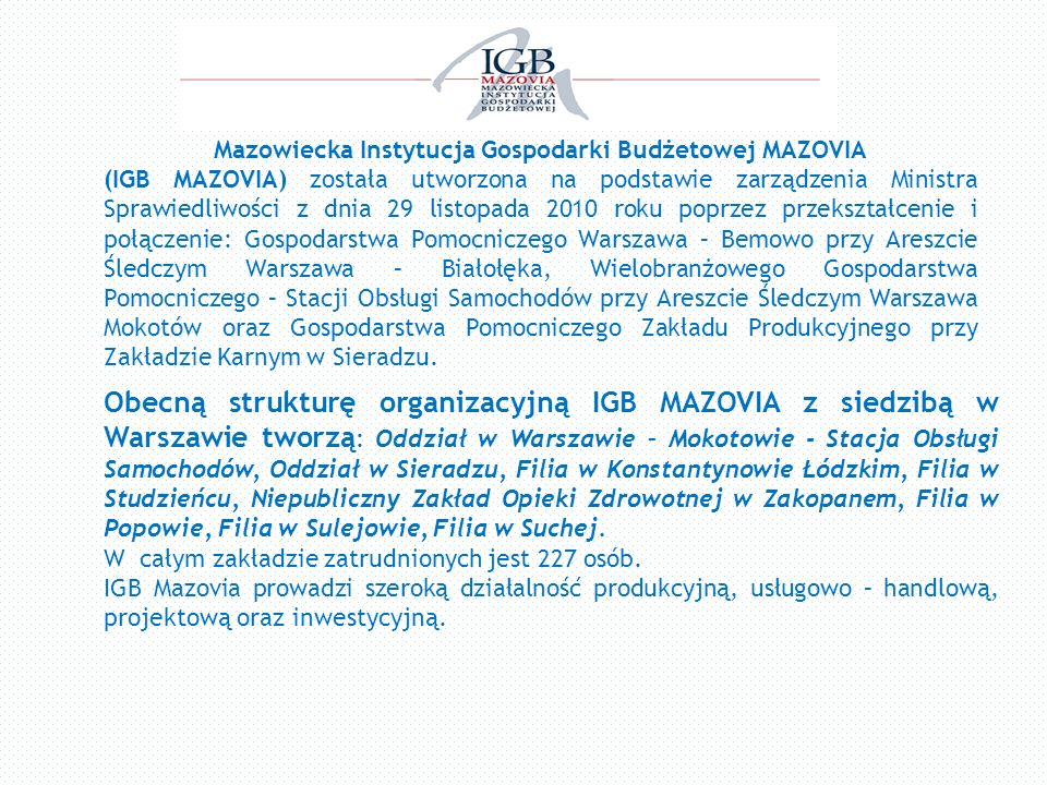 Mazowiecka Instytucja Gospodarki Budżetowej MAZOVIA