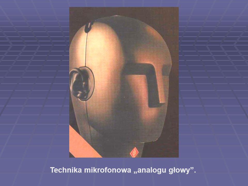 """Technika mikrofonowa """"analogu głowy ."""