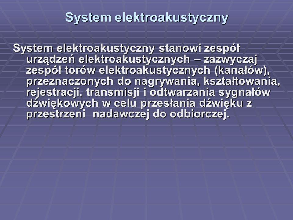 System elektroakustyczny