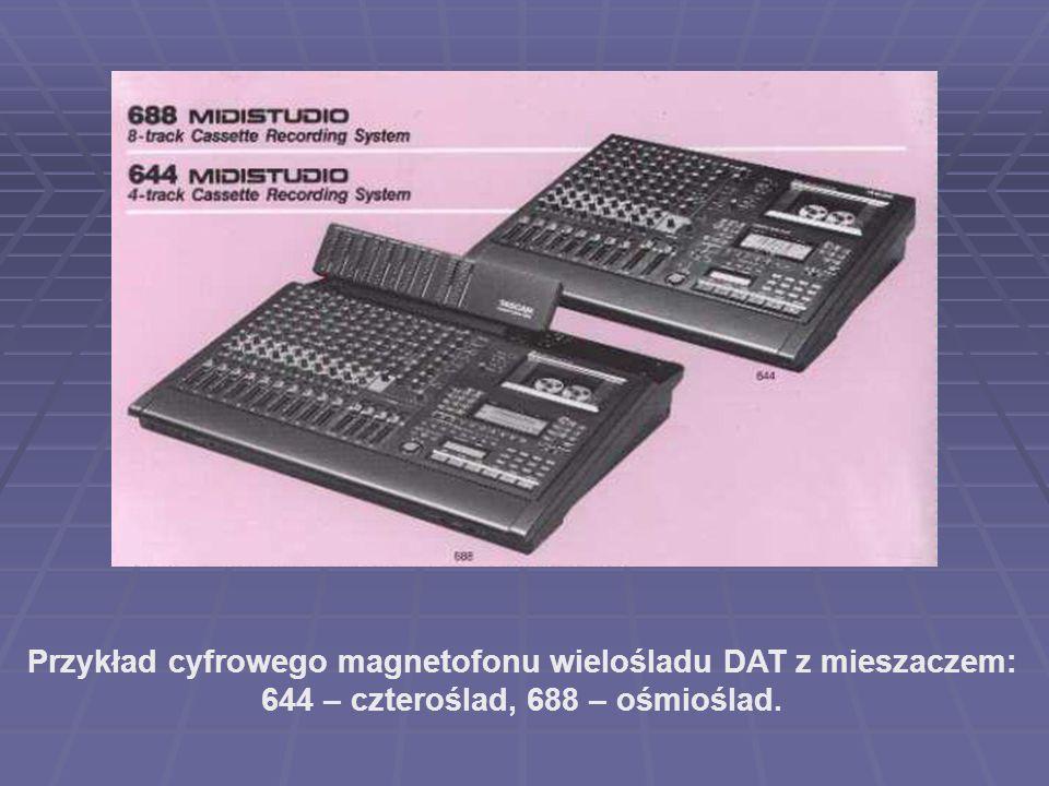 Przykład cyfrowego magnetofonu wielośladu DAT z mieszaczem: