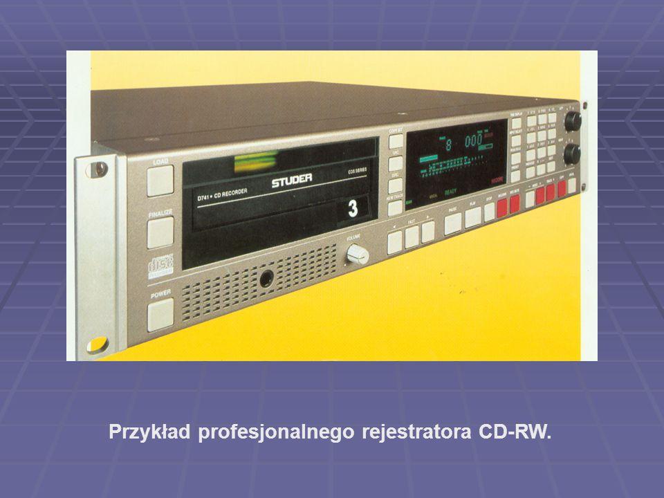 Przykład profesjonalnego rejestratora CD-RW.