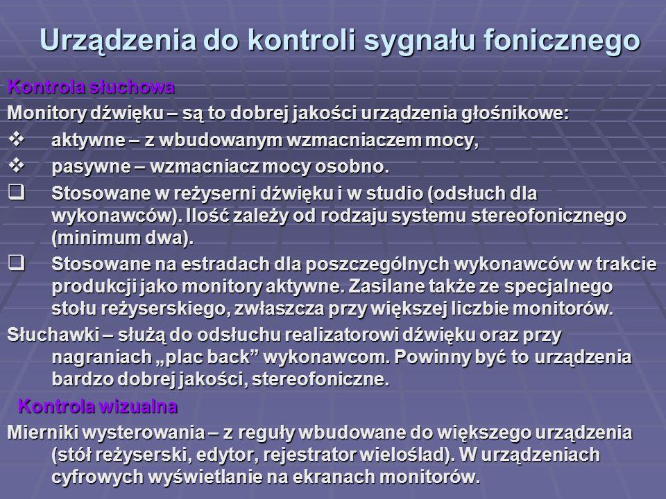 Urządzenia do kontroli sygnału fonicznego