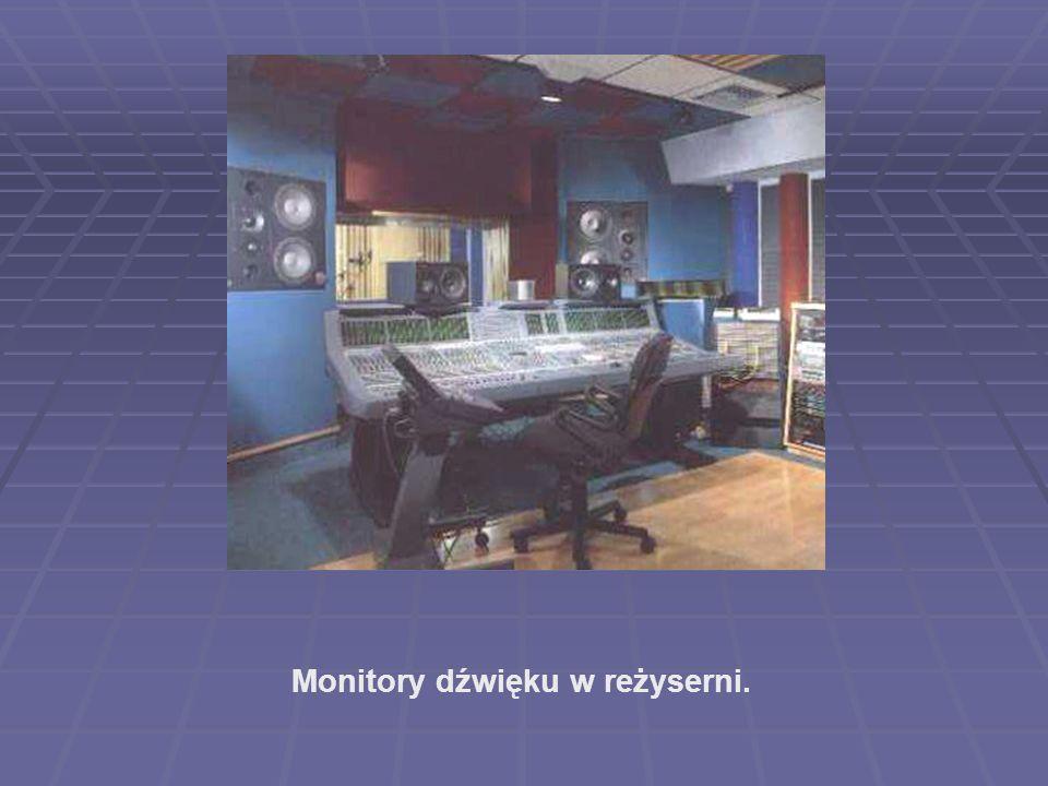 Monitory dźwięku w reżyserni.