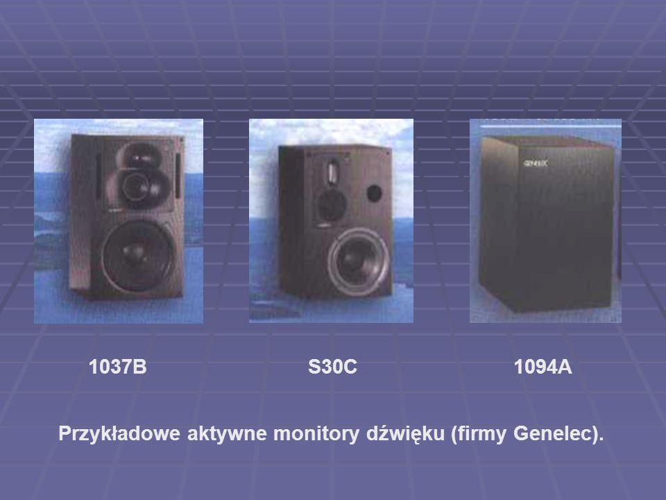 Przykładowe aktywne monitory dźwięku (firmy Genelec).