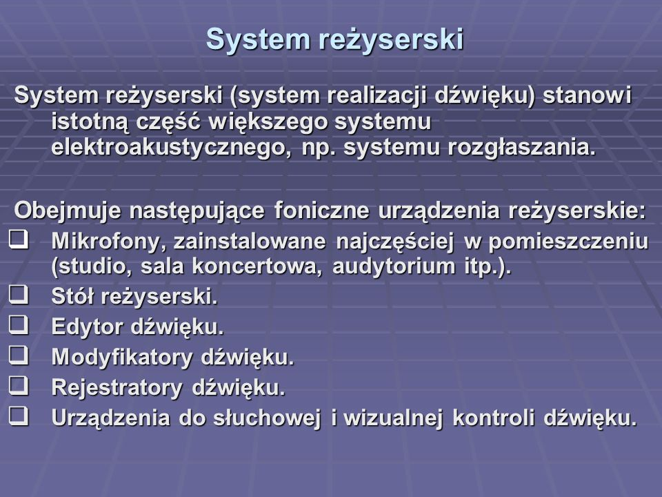 2017-03-28 System reżyserski.