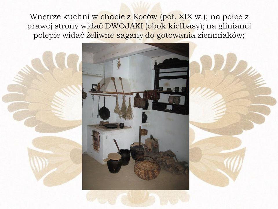 Wnętrze kuchni w chacie z Koców (poł. XIX w