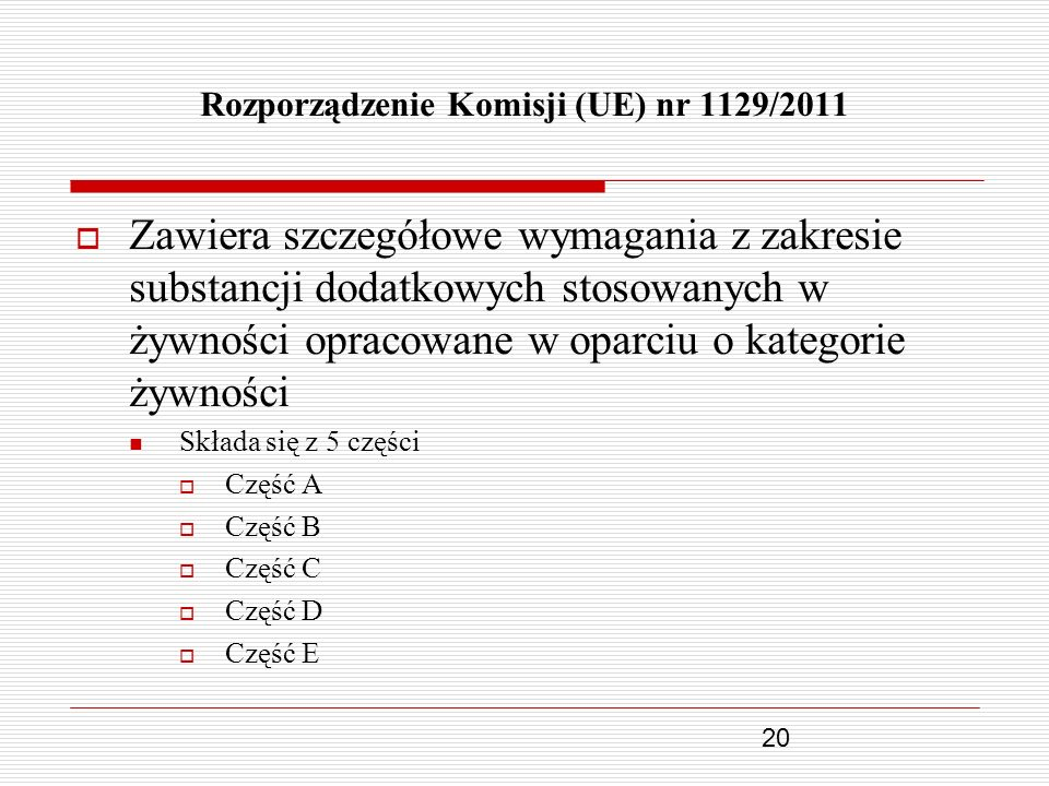 Rozporządzenie Komisji (UE) nr 1129/2011