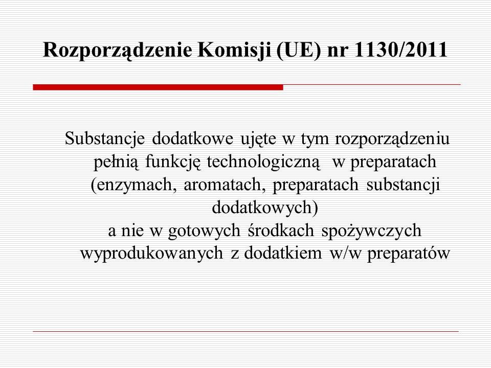 Rozporządzenie Komisji (UE) nr 1130/2011