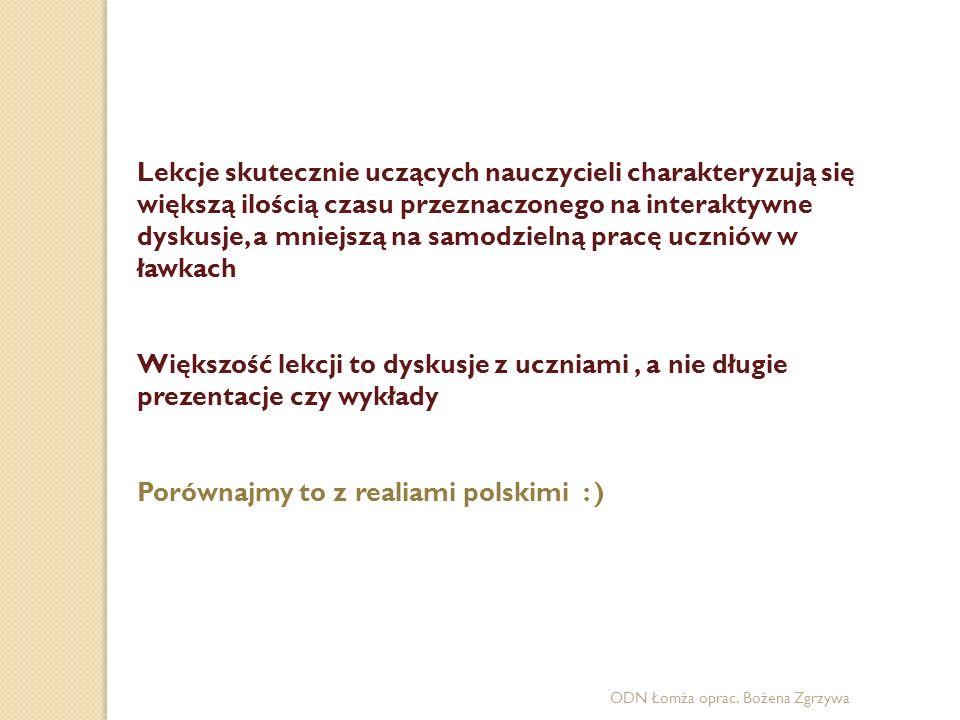Porównajmy to z realiami polskimi : )