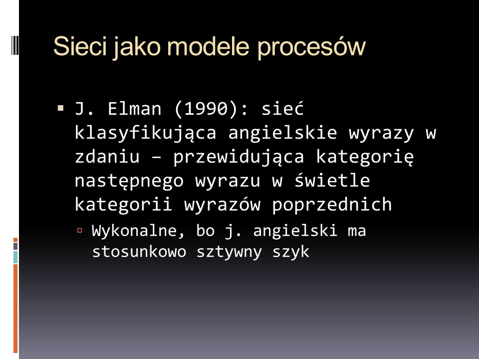Sieci jako modele procesów