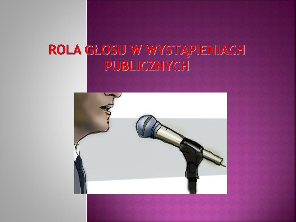 Rola głosu w wystąpieniach publicznych