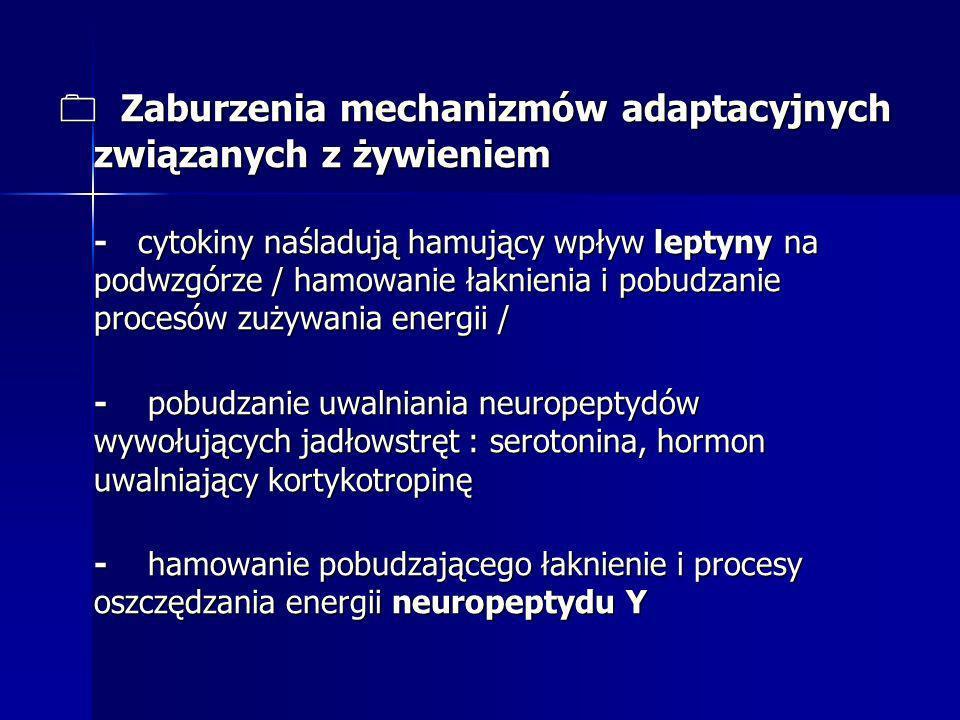 0 Zaburzenia mechanizmów adaptacyjnych związanych z żywieniem