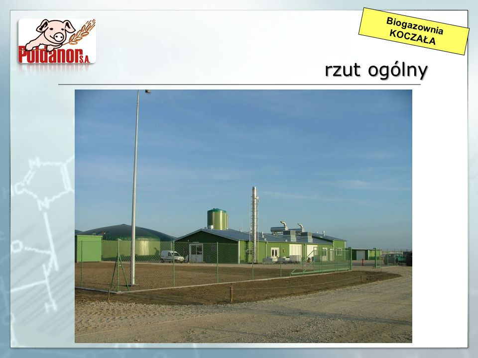 Biogazownia KOCZAŁA rzut ogólny