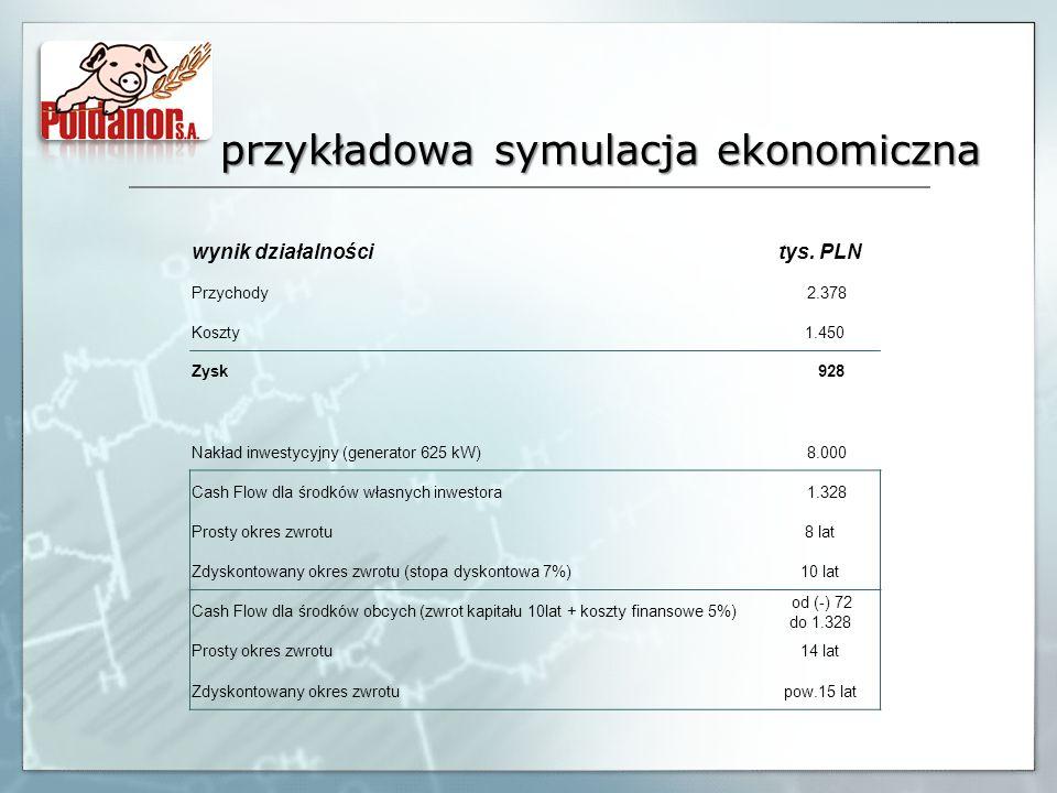przykładowa symulacja ekonomiczna