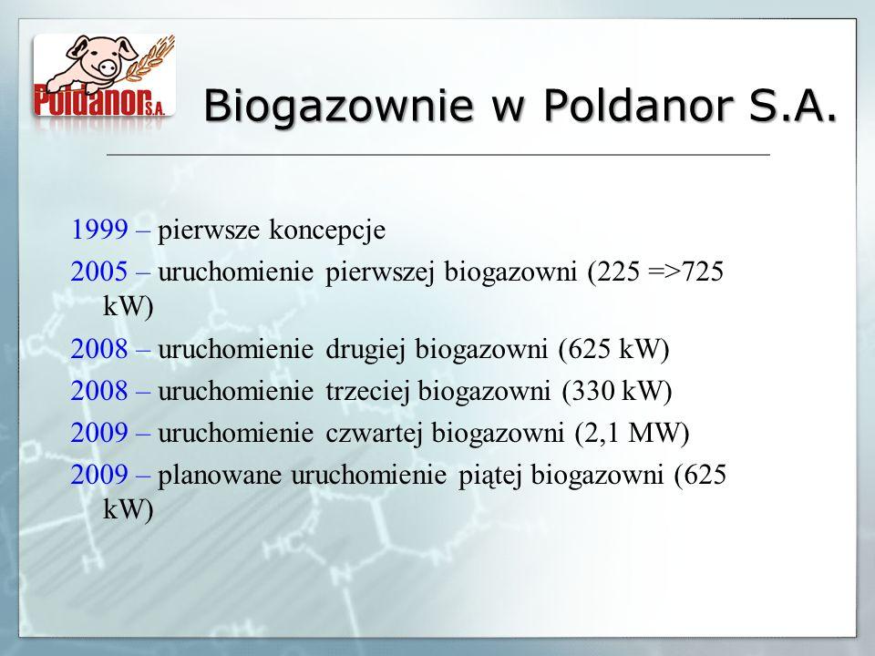 Biogazownie w Poldanor S.A.