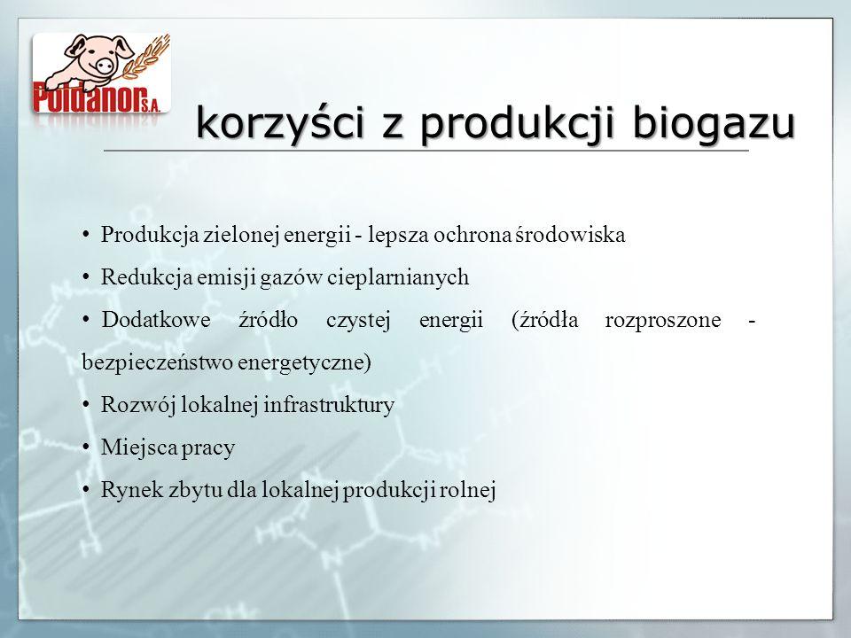 korzyści z produkcji biogazu