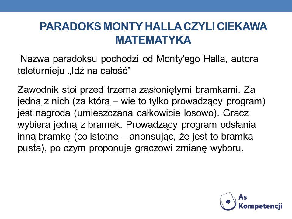 Paradoks Monty Halla czyli ciekawa matematyka
