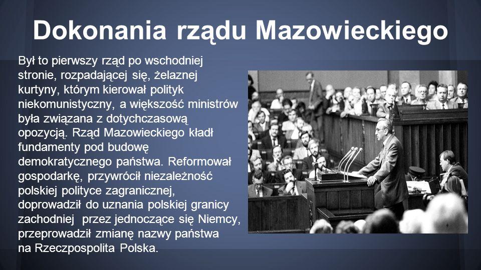 Dokonania rządu Mazowieckiego