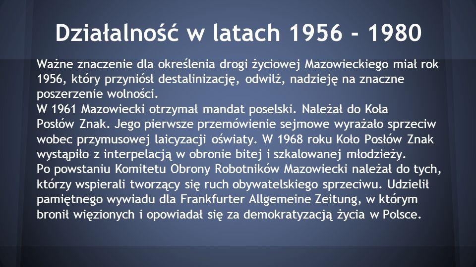 Działalność w latach 1956 - 1980