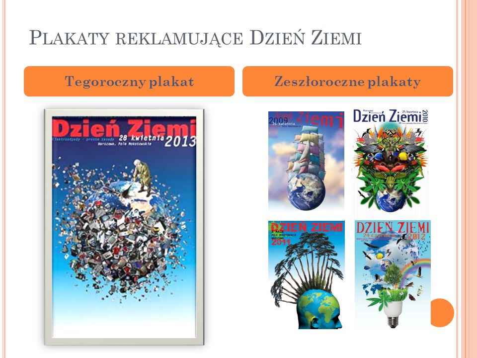 Plakaty reklamujące Dzień Ziemi