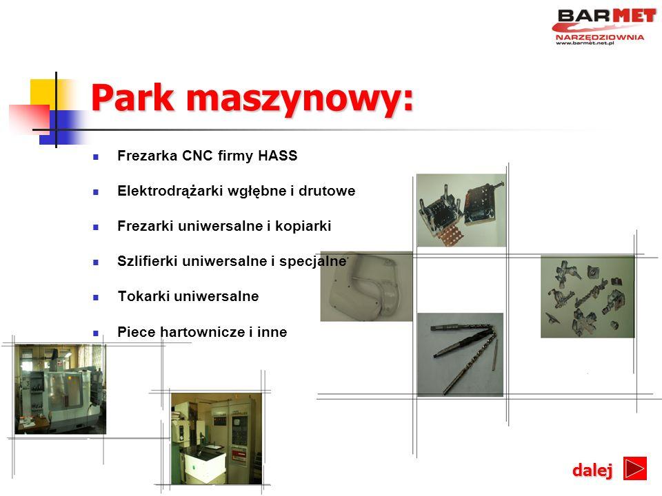 Park maszynowy: dalej Frezarka CNC firmy HASS