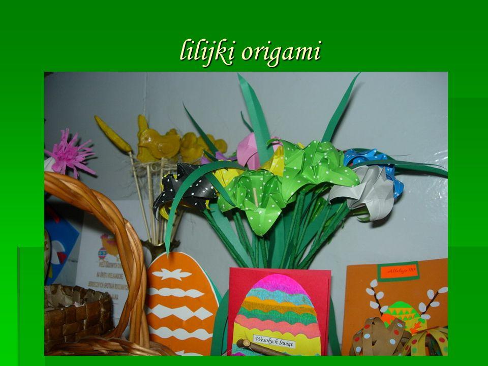 lilijki origami