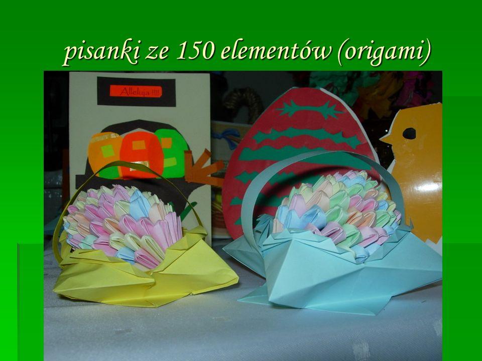 pisanki ze 150 elementów (origami)