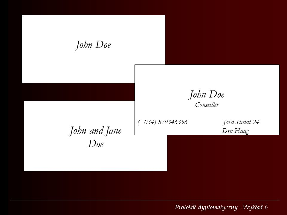 John Doe John Doe John and Jane Doe Conseiller