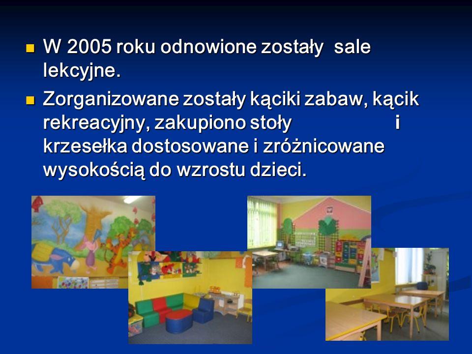 W 2005 roku odnowione zostały sale lekcyjne.