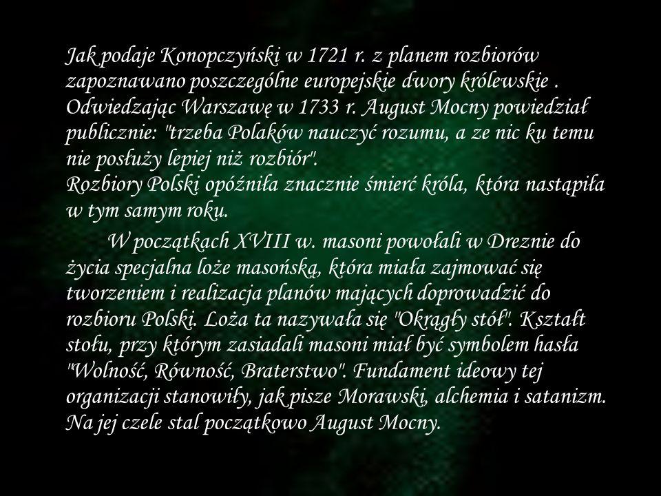 Jak podaje Konopczyński w 1721 r